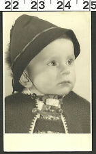 VINTAGE RPPC 1950'S PHOTO OF CUTE GERMAN BABY IN NEAT CLOTHES #2747