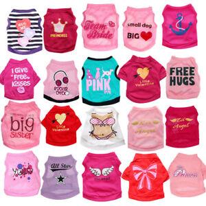 20 PCS Lot Dog Clothes T Shirt Pet Girl Small Puppy Cat Vest Summer Wholesale