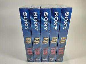 Sony ED Max 120 Video Cassette Tape Lot of 5 New Sealed
