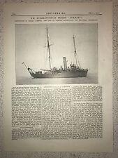 "HM Submarine Boat Tender ""Adamant"": Birkenhead: 1912 Engineering Magazine Print"