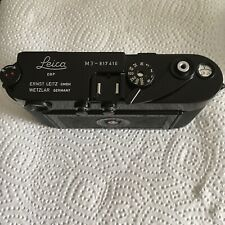 Leica M3 Single Stroke Schwarz Repainted
