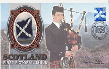 1999 Scottish Pictorial Regionals - Benham Small Silk - Signed by KIRSTY WARK