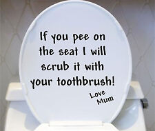 IF YOU PEE ON THE SEAT funny vinyl toilet lid wall stickers Decals Decoration