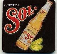 Sol Cerveza Bottle COASTER - Large Mexican Beer advertising coaster