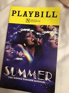 Summer- The Donna Summer Musical  Touring Cast Chicago Playbill
