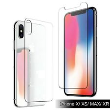 9H For iPhone Xs Max/XR /Xs [Front+Back]  Tempered Glass Screen Protector Film