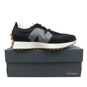 New Balance 327 Lifestyle Shoes Black Grey White Gum MS327STC NEW Mens Size