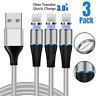 3Pack 3/6Ft Magnetic Lightning Cable USB iPhone 11 Pro Max 7 6 Plus Charger Cord