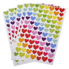 504PCS 6 Sheets Self-Adhesive Colorful Love Heart Pattern Sticker Decoration DIY