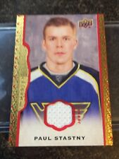 14-15 Upper Deck Masterpieces PAUL STASTNY Red Border Jersey 17/85 Game Used