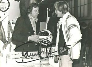 James Hunt (deceased) Hand Signed Large F1 Portrait Photo (Rare With Copyright)