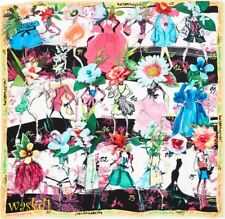 CHRISTIAN LACROIX yellow border FLOWERS HAPPY ANNIVERSARY silk scarf NWT Authent