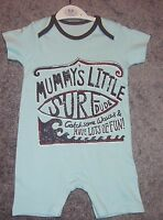 Baby boys surfer dude romper playsuit all in one 3-6/6-9/9-12 months new