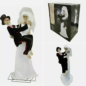 Halloween 6ft Animated Newly Dead Skeletons With LED Singing Dancing **BNIB**