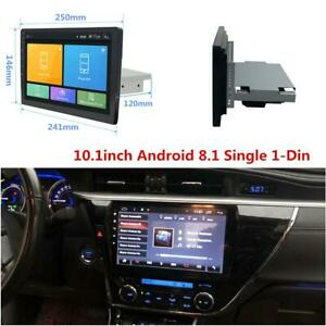 """1Din Android 8.1 10.1"""" Quad-Core HD Car Stereo Radio GPS Wifi Mirror Link Player"""