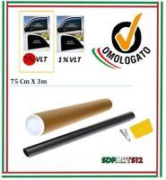 Pellicola Omologata ABG Oscuramento Vetri Auto Nero 5% Adesivo Oscurante 75 cm