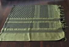 Shemagh Head Scarf Army Military Style Keffiyehs Green & Black.100% Cotton.
