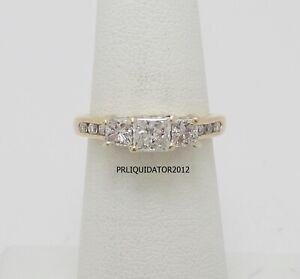 1CT Diamond Anniversary Engagement Solitaire Wedding Bridal Ring 14K Yellow Gold