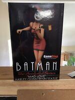 Harley Quinn Statue Batman Animated Series GameStop Ex MAD LOVE, BRAND NEW BTAS