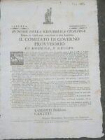 1797 MODENA E REGGIO: REPUBBLICA CISALPINA SUL DIVERTIMENTO E LE FESTE