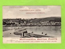 Flushing Falmouth Hold to Light  Matthews Confectioners Plymouth pc Ref E603