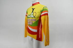 Verge Men's Medium V-Gear Long Sleeve Cycling Jersey Yellow