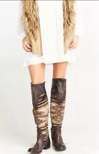 LAST PAIR! NWB! SZ 6 $395 FREEBIRD BY STEVEN SUN OVER THE KNEE TALL BOOTS BROWN