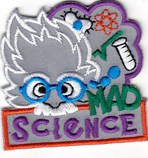 MAD SCIENCE Iron On Embroidered Patch School Learning Research