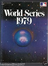 Baltimore Orioles vs Pittsburgh Pirates 1979 World Series Program