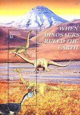 Dinosaures STAMP SHEET #13 (Brachiosaurus/VALID Species/Struthiomimus/Oviraptor)