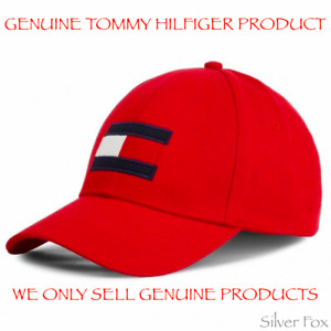 TOMMY HILFIGER BIG FLAG PRIMARY RED STRAPBACK CAP HAT BRAND NEW WITH TAGS