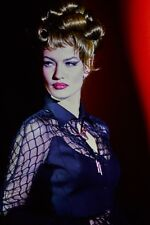 THIERRY MUGLER Runway 1992 Spectacular Cage Netting Details Black Dress Sz US 4