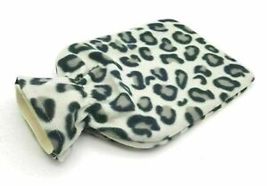 2L HOT WATER BOTTLE WITH SOFT COVER Fleece Natural Rubber Winter Warm