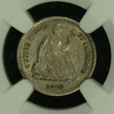 Liberty Seated Silver Half Dime.1863 S. NGC XF Details Lot # 2672217-014