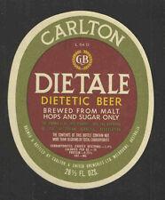 CARLTON DIETALE BEER BOTTLE LABEL 26 2/3 OZ - AUSTRALIA - UNUSED