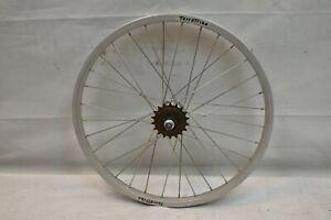 """Terra Trike Rear SS 20"""" Recumbent Wheel Silver Freewheel OLW135 32S AV Charity!!"""
