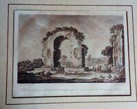Incisione su rame Caserta S. Maria Capua Vetere Porta dal Saint Non 1836 (P390)