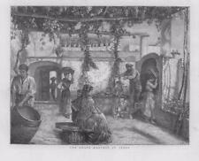 1873 antica stampa-ITALIA VIGNA ALBERI VENDEMMIA (37B)