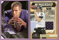 JOE FLACCO GAME USED JERSEY #d150/299 + Upper Deck ROOKIE CARD BALTIMORE RAVENS