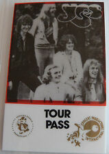YES (Prog Rock) Laminated Repro Backstage Tour Pass Progressive