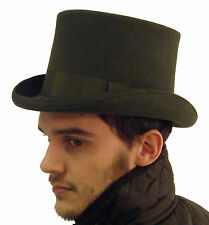 Top Hat New Original Wedding Formal Event Wool Felt Olive Green S M L XL