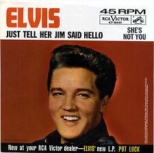 "ELVIS PRESLEY  ""JUST TELL HER JIM SAID HELLO""       RED VINYL    LISTEN"