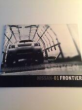 2001 Nissan Frontier 36-page Original Sales Brochure