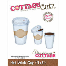 """CottageCutz Die 3""""X3""""  ~ Hot Drink Cup, 3X3091 ~ NIP"""