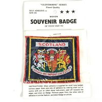 Glenthorne Series Woven Souvenir Badge Scotland Vintage Embroidered Patch