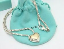 Tiffany & Co. Silver & 18K Yellow Gold Heart Puzzle Necklace