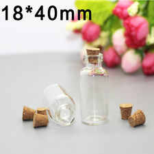 5ml Clear Mini Small Cork Stopper Tiny Glass Vial Jars Containers Bottle Bulk AC