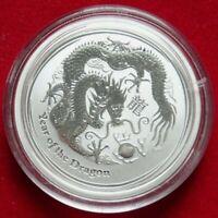 Australien 1/2 Dollar 2012 Jahr des Drachen Silbermünze Lunar II Stempelglanz