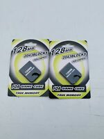 Set Of 2 GameCube Memory Card 128MB for GameCube and  Wii Console 2048 Blocks