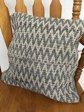 ❤ Zig Zag Cojín Cubierta Gris Rags & Algodón Natural 60cm X 60cm Liso Cremallera en la espalda